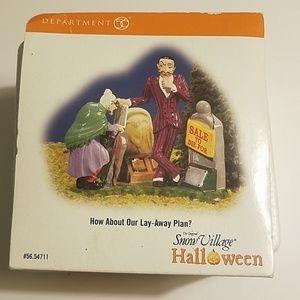 Dept 56 Halloween Village Lay-Away Plan